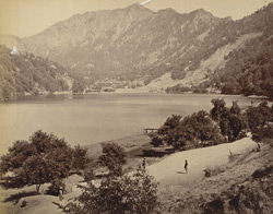 View of Naini Tal Lake, looking north-west from the eastern shore